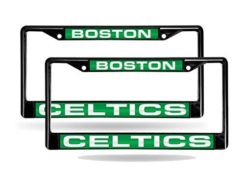 Rico Boston Celtics NBA Black Metal (Set of 2) Laser Cut License Plate Frames