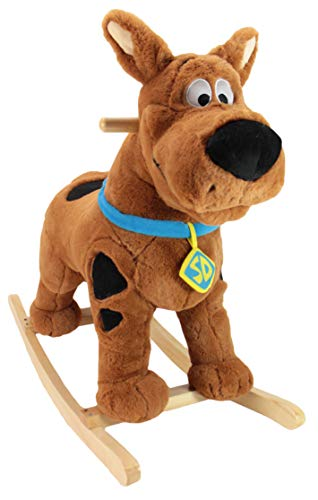 Animal Adventure | Real Wood RideOn Plush Rocker | Scooby Doo | Perfect for Ages 3 28quot x 12quot x 22quot