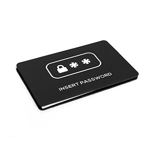 balvi Passwörterheft Insert Password Farbe schwarz PVC/Papier