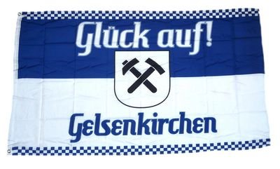 Fahne / Flagge Glück auf! Gelsenkirchen NEU 90 x 150 cm