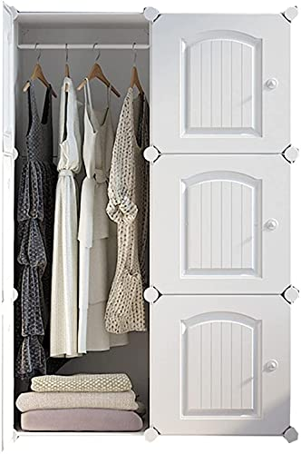 PANGPANGDEDIAN Almacenamiento de Armario de casillero Espesar y endurecer Puertas correderas utilizadas para la Sala de Alquiler Dormitorio Dormitorio habitación Tendedero (Color : 6 Doors)
