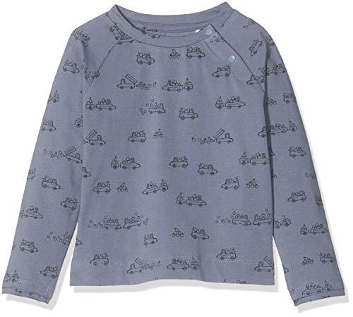 Imps & Elfs Baby-Jungen B T-Shirt Long Sleeve Langarmshirt, Folkstone Gray AOP Cars, (Herstellergröße: 56)