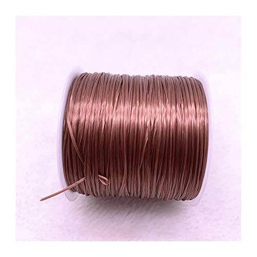 50m / Rollo Fuerte Rebordeado Colorido Colorido elástico Cuerda Cuerda Cuerda de Cable Cuerda para joyería Haciendo brizs Pulseras (Color : 10)