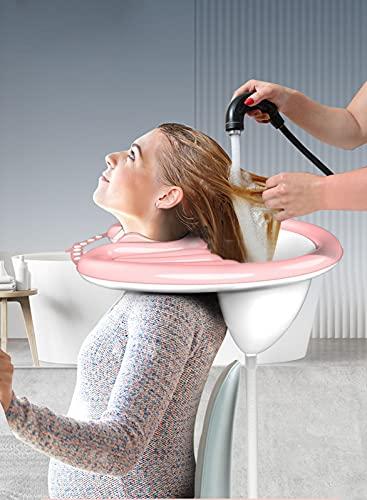 Lavabo portátil para lavar el cabello, bandeja de champú inflable ligera sin pellizcar el cuello para el embarazo, paciente posquirúrgico, paciente confinado en cama