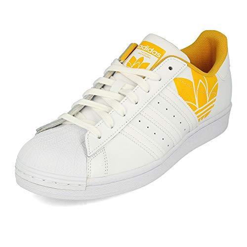 adidas Superstar Sonic Trefoil White Active Gold - Zapatillas de deporte, color Blanco, talla 44 2/3 EU