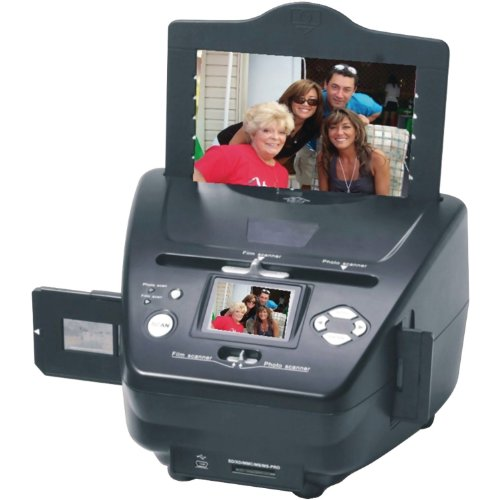 : SVP 3-in-1 Multi-function Stand-Alone Image and Slide Scanner (Black - 22 Megapixel (PS-9790))