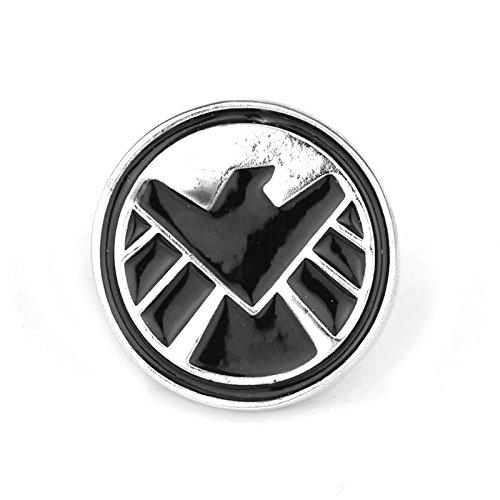 Anstecker mit Adlermotiv (Marvel's Agents of S.H.I.E.L.D.), Metall, Cosplay, Schwarz