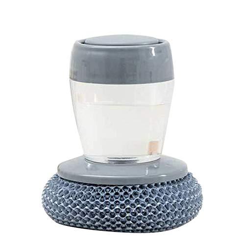 Cepillo de palma dispensador de jabón de cocina, Cepillo de limpieza de presión multifuncional, Cepillo para lavar platos que no mancha el aceite, Cepillo de limpieza para estufas Vajilla PET