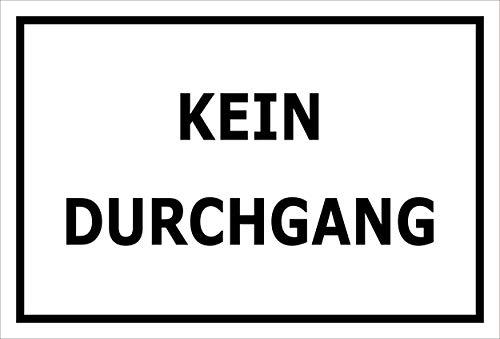 Melis Folienwerkstatt Aufkleber - Kein Durchgang - 15x10cm – S00080-103-A 20 VAR.