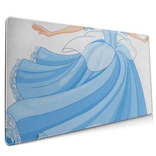 Mauspad, erweitertes Gaming-Mauspad , Verlängerte rutschfeste Mauspads Geeignet für Gamer, Büros, Arbeitszimmer usw. Prinzessin Der königliche Balltanz von Cinderella Fairy Tale Dress Beautiful