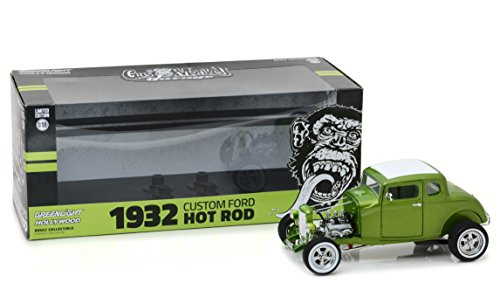 Greenlight Collectibles – Ford – Hot Rod Custom – Gas Monkey Garage Auto Miniatur-Collection, 12974, grün Metall