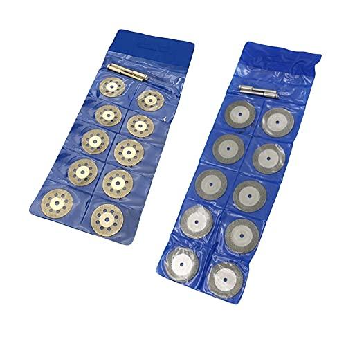 kengbi Juego de 10 discos abrasivos con 2 mandril de diámetro de chapa, molienda de metal, mini sierra circular para herramienta rotativa Dremel (color: 30 mm)