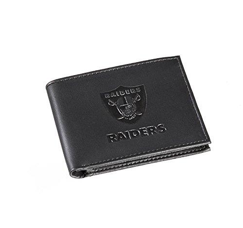 Team Sports America Leather Oakland Raiders Bi-fold Wallet