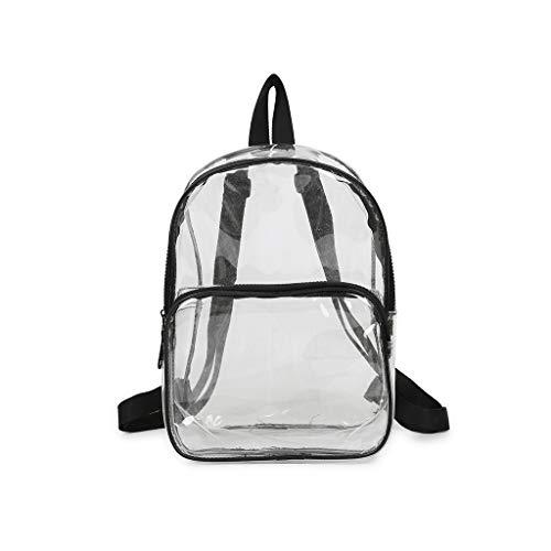 LIHAEI Kleiner Durchsichtiger Rucksack Damen Mode Wild UmhäNgetasche Durchsichtige Tasche Mit ReißVerschluss,Wasserdichte Daybag FüR Die Bib,Studenten Reise Organizer Schoolbag