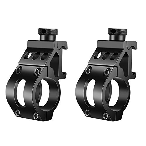 "TACwolf Tactical 1"" Offset Mount for Flashlights 2 Pack"