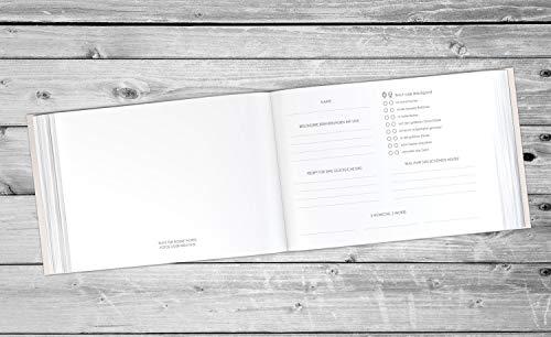 Deluxe Gästebuch - personalisiert & veredelt 104 Seiten (Inhalt mit Fragen)