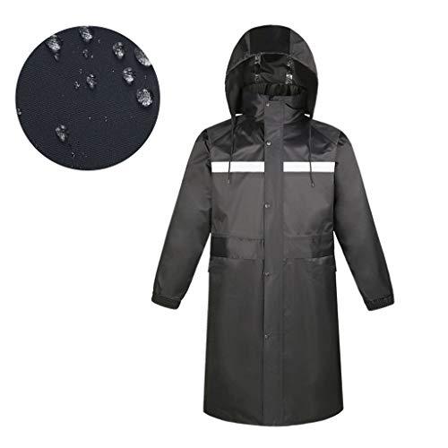 Preisvergleich Produktbild Regenponcho Wasserdichter Regenmantel mit Kapuze,  Atmungsaktiver PVC Reflektierender Regencape mit Reflektierendem Streifen,  Regenschutzbekleidung für Reisen