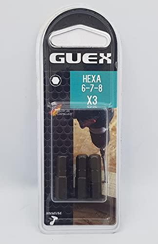 Guex Puntas hexagonales 6 7 8mm 3 piezas