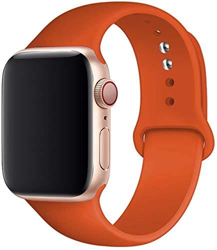 MAIDEN Correa de silicona compatible con Apple Watch Band 44 mm, 40 mm, 38 mm, 42 mm, correa de goma compatible con Iwatch Series 5 4 3 SE 6
