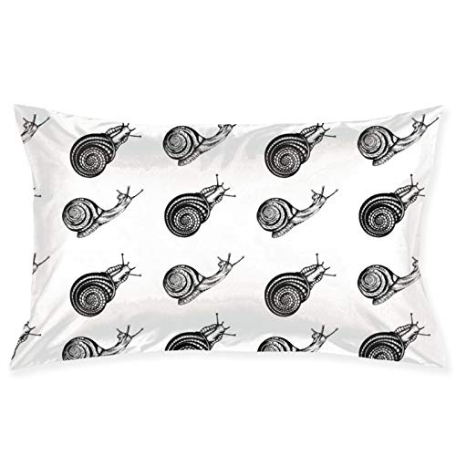 LESLIEYU Ultra-Soft Pillow Protectors Cases Covers, Snail Seamless Print Rectangle Sofa Pillowcases Shams with Zippered, Waist Cushion Throw Pillow Cover for Couch Bed Bedroom Chair (20 x 30)