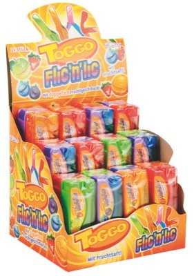 Toggo Flic N LIC Lutscher, 24-er Pack - Display - Thekenaufsteller