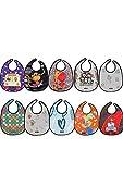 Tris&Ton Pack Baberos Bandana Babero impermeable sin mangas para bebe niño niña con dibujos animados (Trisyton)… (Multicolor)