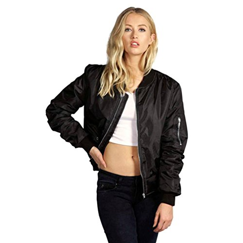 Rosennie Damen Lange Ärmel Spitze Blazer Anzug Beiläufig Jacke (XL, Schwarz)