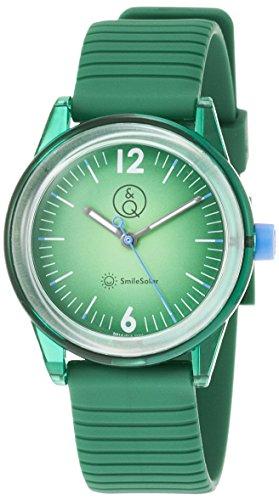 Q&Q SMILE SOLAR Unisex Armbanduhr Green RP18J012Y