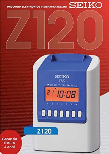 Timbra cartellini dipendenti SEIKO Z120, rilevatore presenze, 4 anni di garanzia