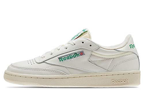 Reebok Club C 85, Zapatillas de Gimnasia para Mujer, Beige (Chalk/Glen Green/Paperwhite/Excellent Red Chalk/Glen Green/Paperwhite/Excellent Red), 38 EU