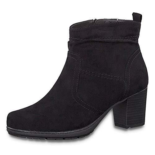 Jana Damen Stiefeletten Stiefeltte aus schwarzem Textil 25371/001 schwarz 801036