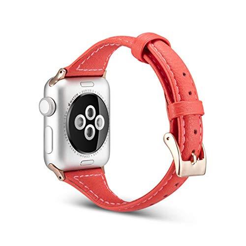 Pulsera de cuero CHERRYY Serie 4 para Apple Watch Band 44mm 40mm Correa de muñeca para IWatch 42mm 38mm Series 1 2 3 Correa de reloj