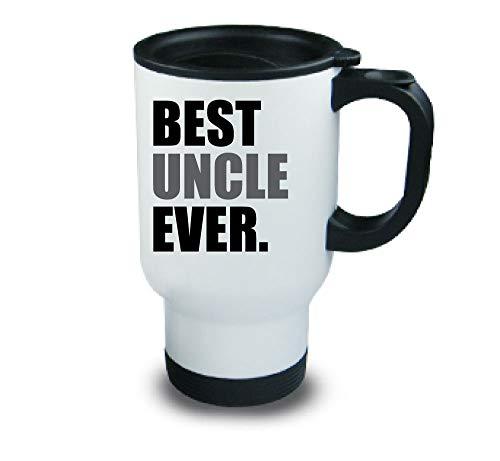 meilleur oncle jamais Métal tasse de voyage Gris fête des Pères Anniversaire Noël