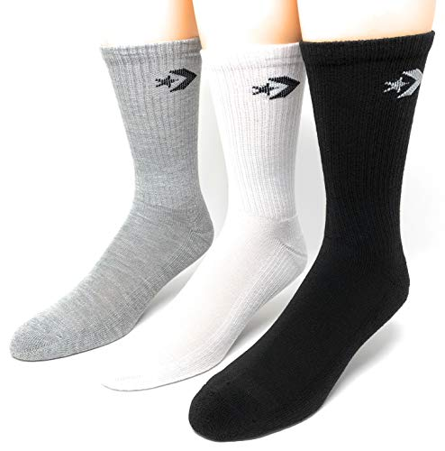 Converse Men's Half Cushion Crew Socks 3-Pack Size 6-12