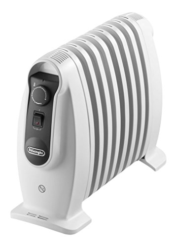 De'longhi TRNS 0808M - Radiador 800 w, ajustes termostato, asas, protección anti heladas, blanco