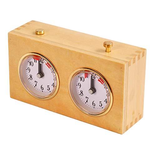 XOYZUU Reloj de ajedrez, reloj de juego de ajedrez mecánico, contador de tiempo de competencia profesional, contador de tiempo de cuarzo analógico para juego de mesa de torneo