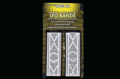Jogalite Cross Training Reflective Leg bands (pair) -White