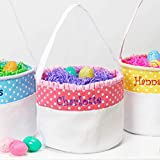 Personalized Soft and Light Easter Basket (Peachy Pink)