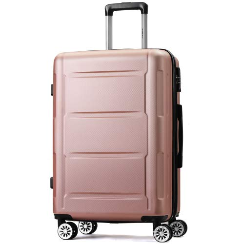 Jamiwe Hand Luggage Expandable Hard Shell Travel Suitcase Set with TSA Lock, Telescopic Handle and 4 Wheels, Trolley Trolley Suitcase, Travel Suitcase (Champagne, XL-72 cm) (1)