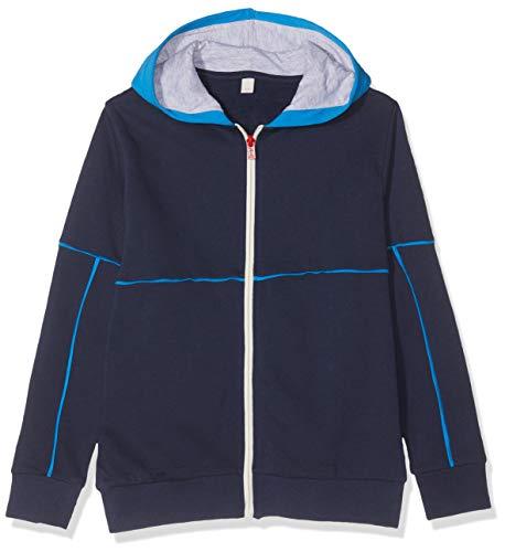 ESPRIT KIDS Jungen RP1701608 Sweatshirt Card Strickjacke, Blau (Navy 490), 128 (Herstellergröße: XS)