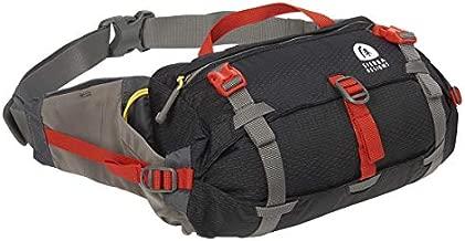 Sierra Designs Flex Lumbar Waist Pack, 3-6L Peat, Hiking Waist Bag with Water Bottle Holder, Adjustable Volume, and More