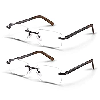 frameless reading glasses men