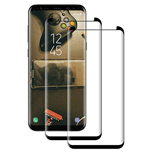 Aspiree Lot de 2 films de protection d'écran en verre trempé pour Samsung Galaxy S9 - Dureté 9H - Ultra transparent - Anti-rayures - Anti-huile