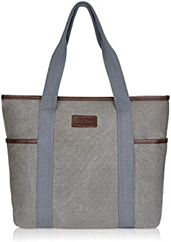 Sunny Snowy Large Canvas Tote Bag for Women