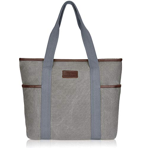 Canvas Tote Bag for Women,Sunny Snowy Large Tote Bags,Work School Shoulder Bag,8002,Gray