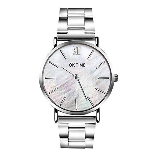 Cramberdy Herren Uhren Damen Uhr Mode Unisex Damenuhren Herrenuhren Edelstahl Analog Quarz Armbanduhren für Männer Frauen
