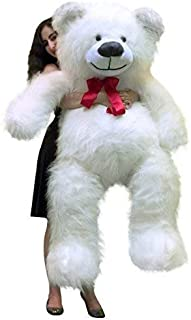 Big Plush 5 Foot Big Valentines Day Giant White Teddy Bear 60 Inch Soft Made in USA