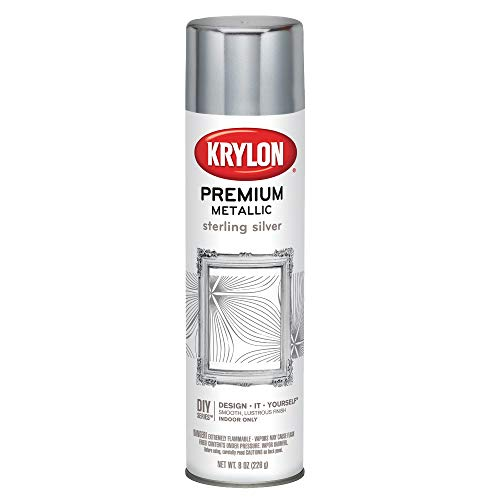 Krylon K01030A07 Premium Metallic Aerosol, 8-Ounce, Sterling Silver Finish