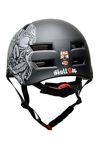 Skullcap® BMX Helm – Skaterhelm – Fahrradhelm – Totenkopf Helm – Herren Damen Jungs & Kinderhelm, schwarz, Gr. L (58 – 61 cm), Skull - 2