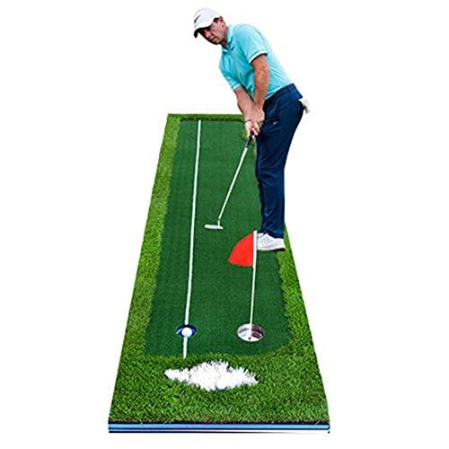 NHLBD LIJIANZI Worth having - Golf Putting Green Synthetic Turf Putting Practice Indoor Golf Mat Life-Like Artificial Green Turf Grass Includes 2 Box Balls+Putt Long-Lasting Design